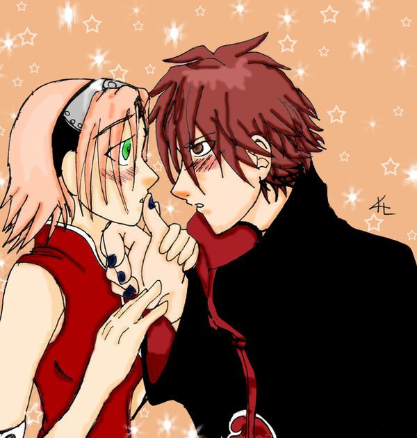 Sakura X Hinata Kiss