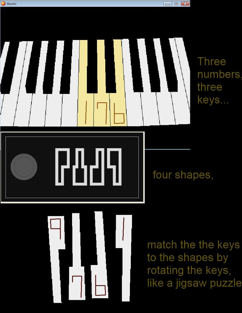 Ao Oni piano puzzle by KurotsuchiMayuri12
