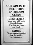 Bathroom signs: Our aim