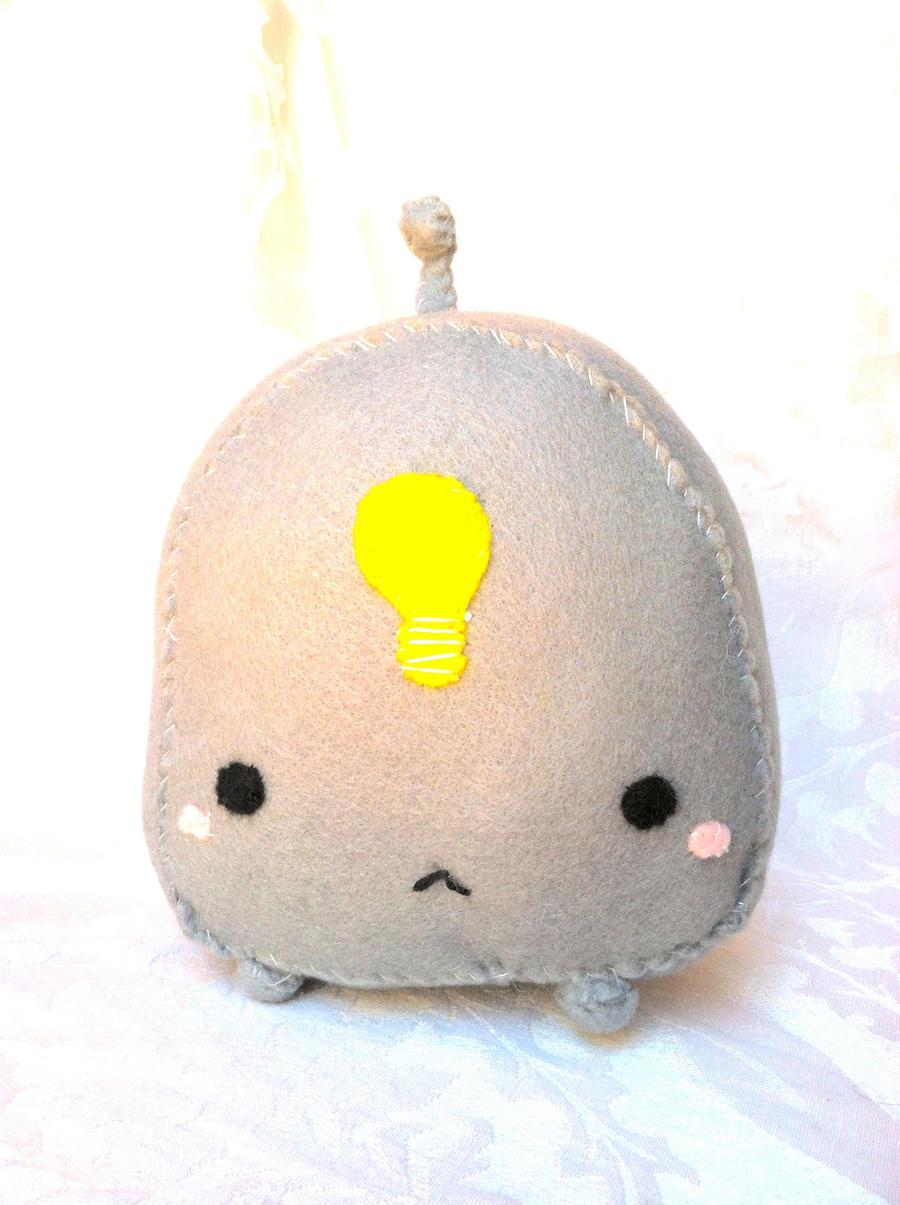 Handmade Light Bulb Robot by PinkChocolate14