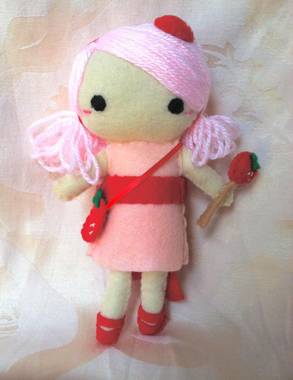 Fancy Strawberry Plush Figure by PinkChocolate14
