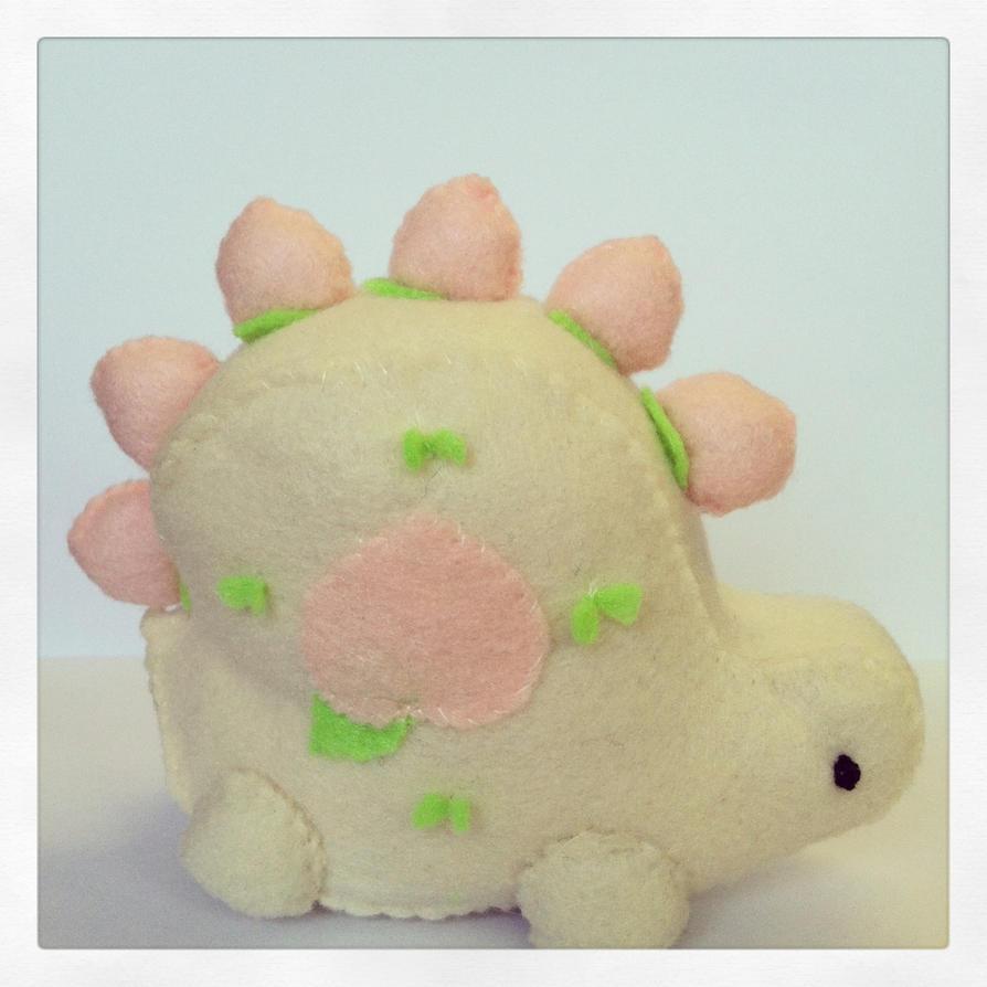 Little Peachasaurus Plush by PinkChocolate14