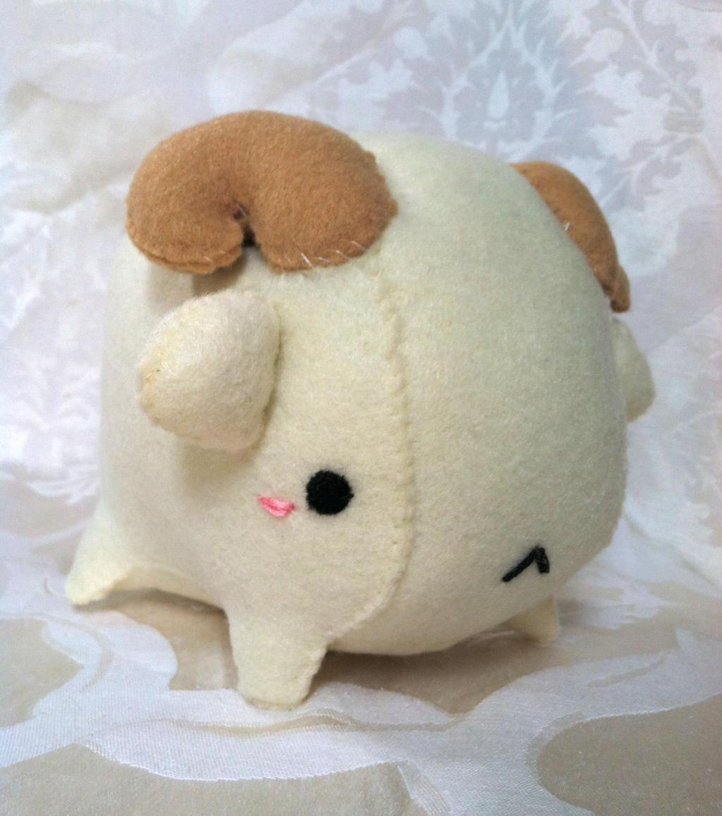 Mountain Goat Plush by PinkChocolate14
