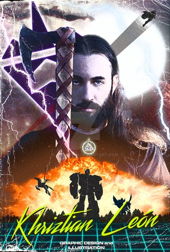 Retro Sci Fi Self Portrait Poster by khriztian