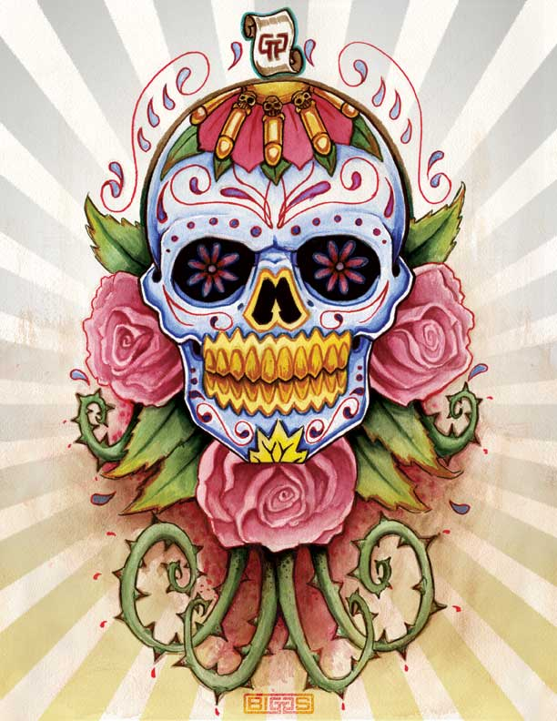 sugar skull by mr biggs on deviantart