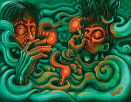 2 dudes puffing
