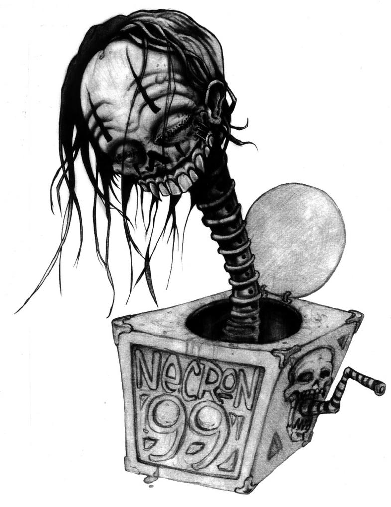 evil jack in a box drawing by mr biggs on deviantart. Black Bedroom Furniture Sets. Home Design Ideas