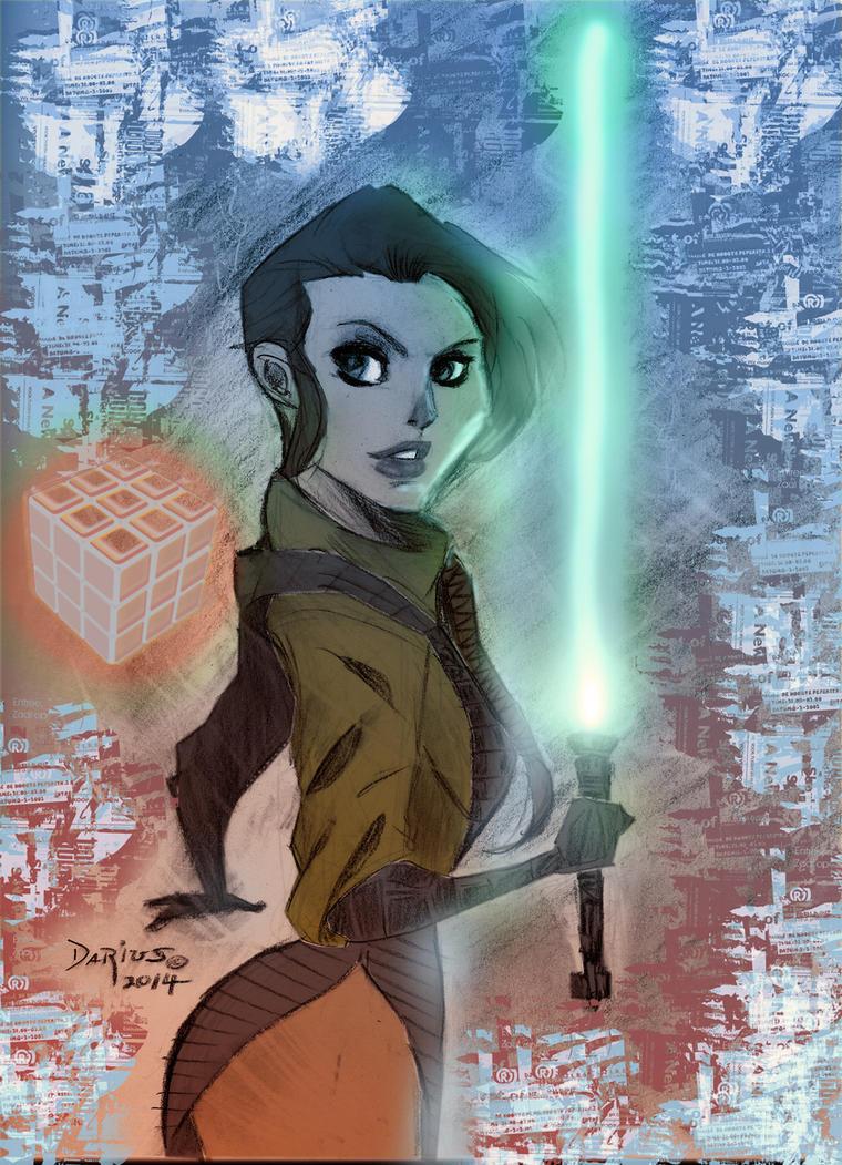 Leia Jedi final by Dariustheruler