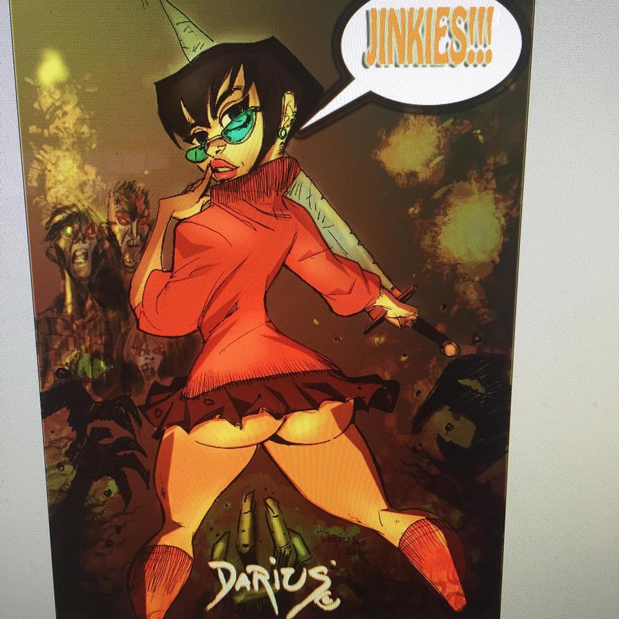 Velma vs zombies  by Dariustheruler