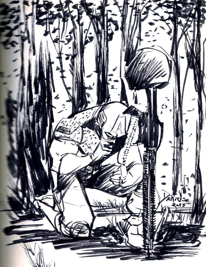 Inksplash Captain America by Dariustheruler