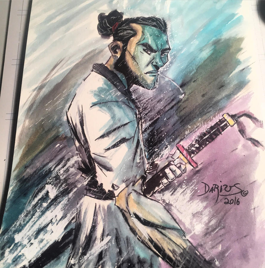 Watercolor Samurai Jack  by Dariustheruler