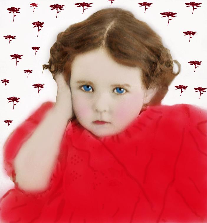 Little girl Serious by LindArtz