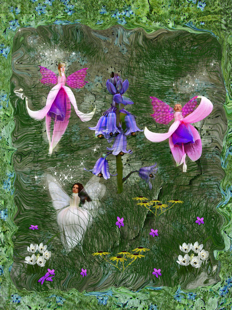 Flower fairies by lindartz on deviantart