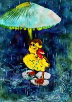 Under my Umbrella by LindArtz