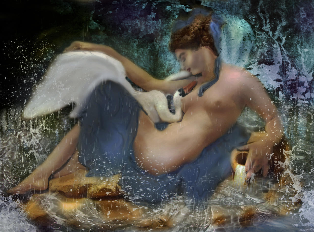 Leda and the Swan by LindArtz