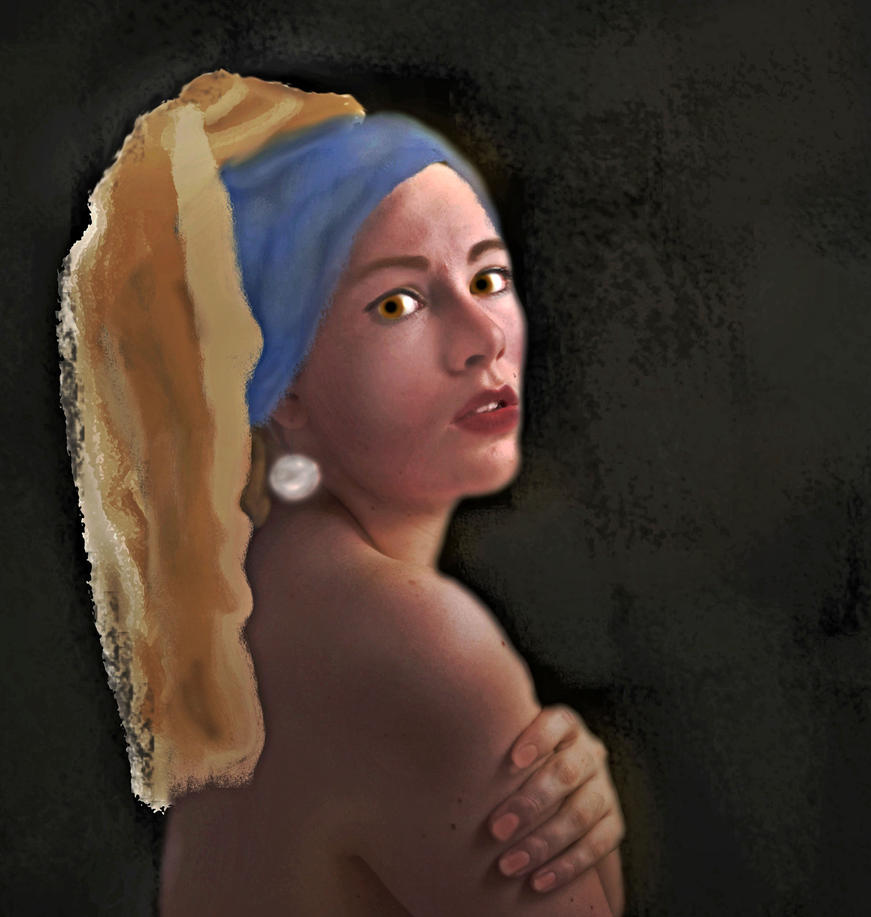 Girl with the Pearl Earring  by LindArtz