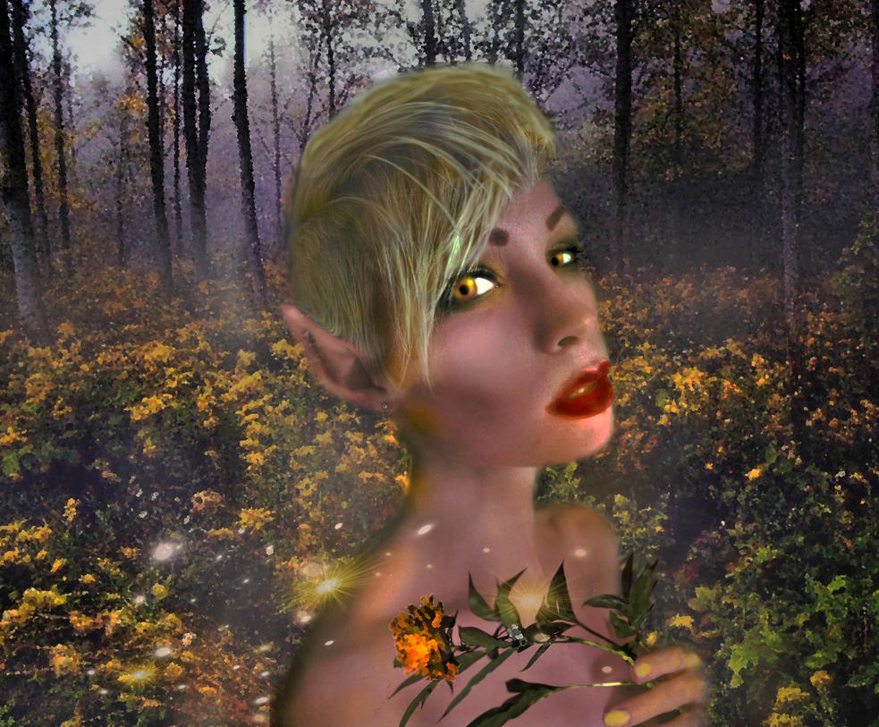 Gold Dust Elf by LindArtz