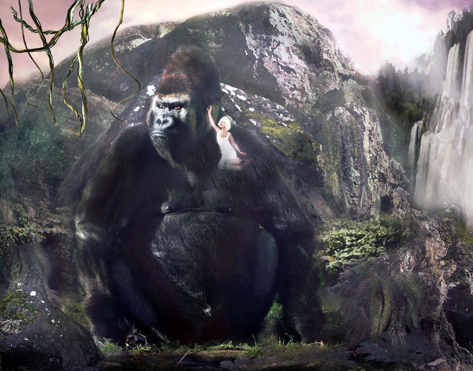 Kong plays Hard to Get by LindArtz