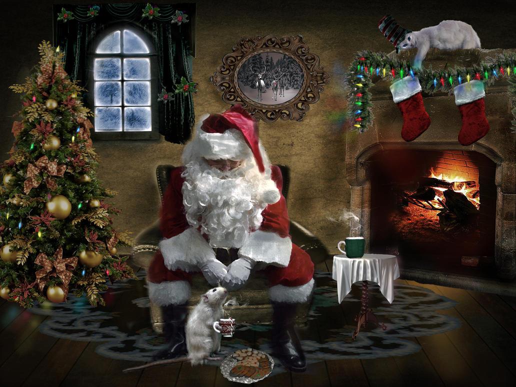 Cocoa at Santa's House   by LindArtz