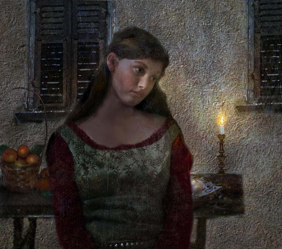 Girl in Kitchen by LindArtz