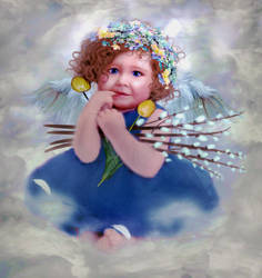 Easter Cherub by LindArtz