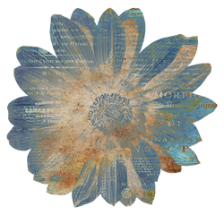 Flower Blue Paper Decoration by LindArtz