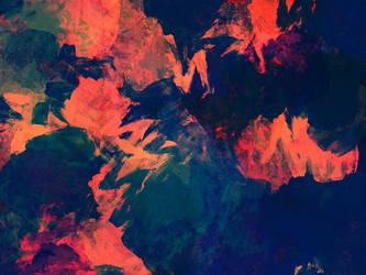 Background Texture Blue and Orange by LindArtz