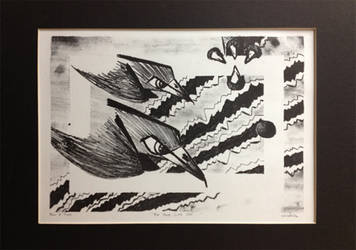 Birds Litho by zapfogldorf