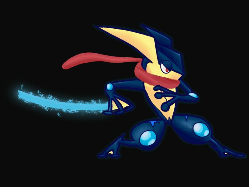 Greninja by th3sharkk