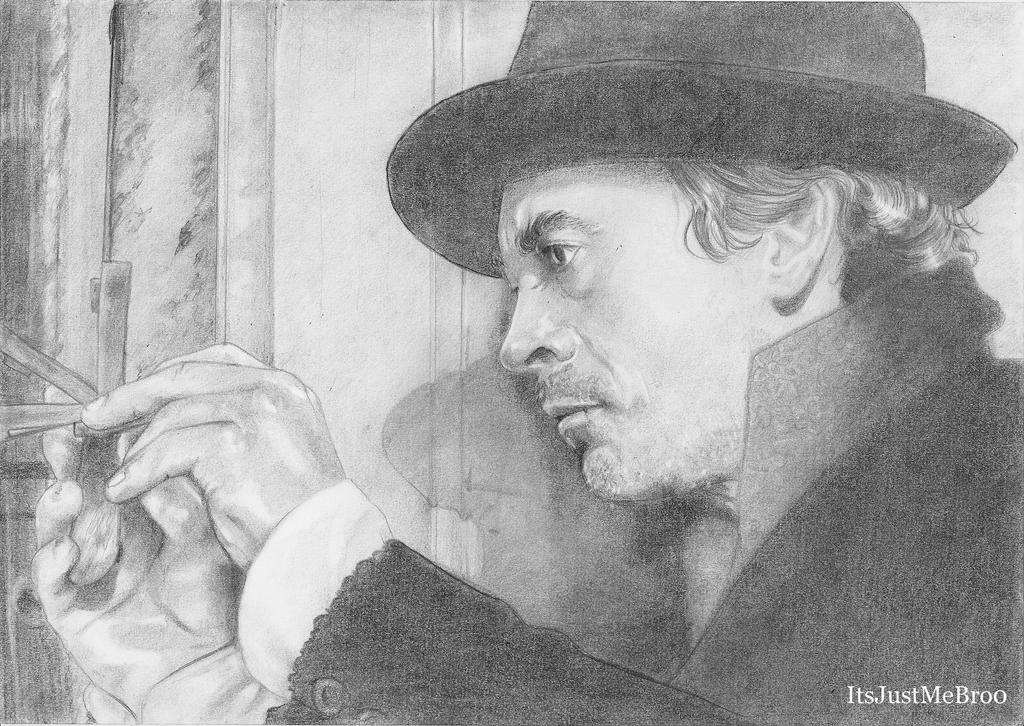 Robert Downey Jr. as Holmes by ItsJustMeBro0