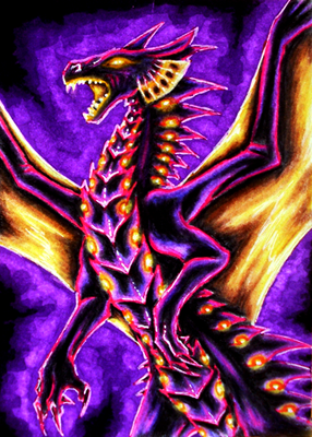 Purple and Gold ACEO by Selianth
