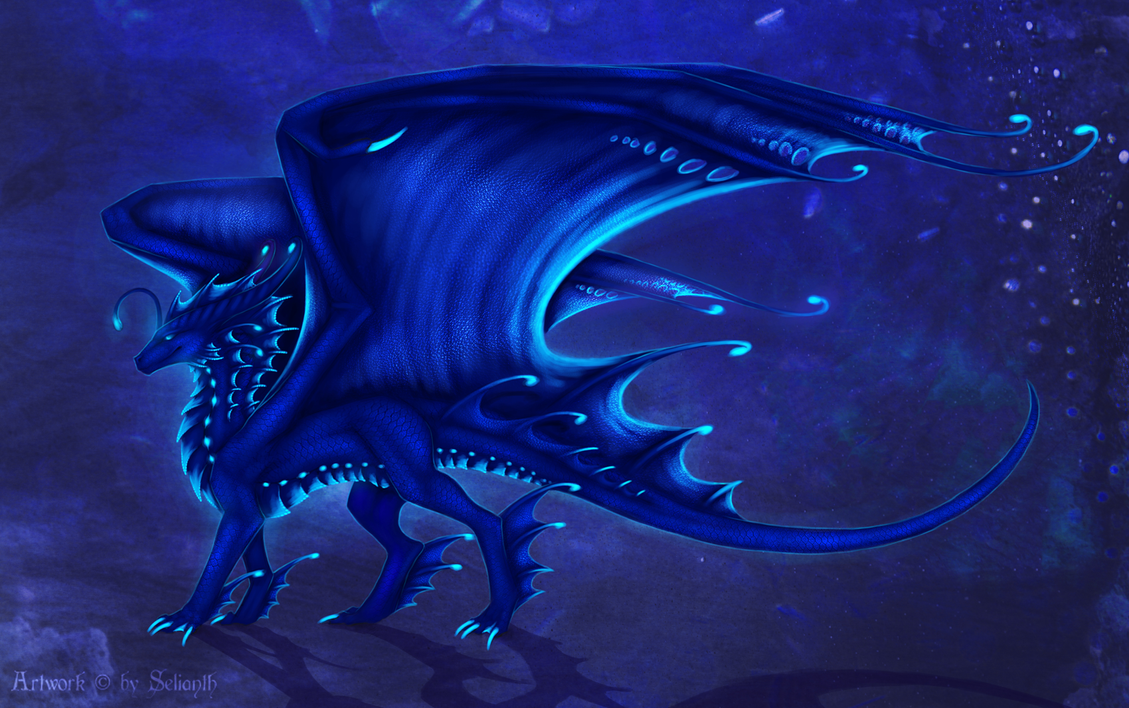 Deep sea dragon (blue) by Selianth on DeviantArt