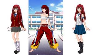 3 cosplays Erza