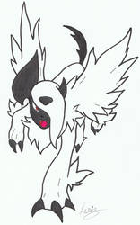 Mega-Absol by erza51rock