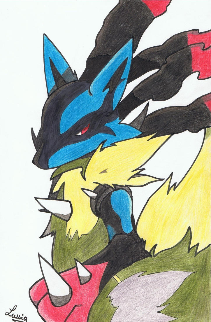 Mega-Lucario by erza51rock