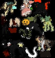 Halloween Adopt Sheet    3/7 OPEN by Peachy-Adoptables