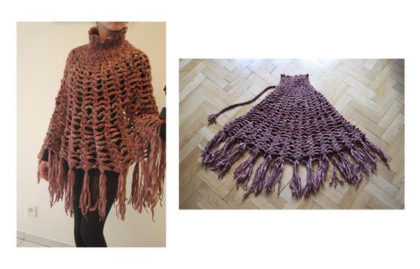 Crochet Poncho by BramboraCzech