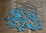 Irish crochet motivs - blue