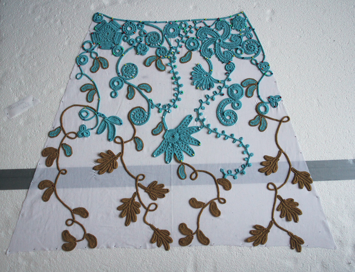 Irish crochet - sewing together by BramboraCzech