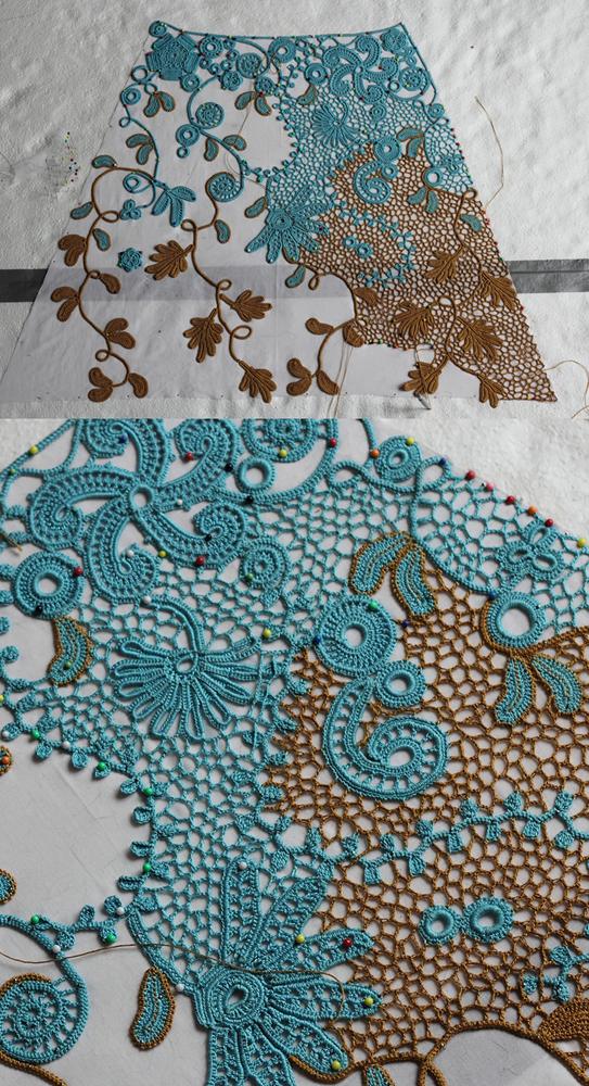 Irish crochet - sewing together II