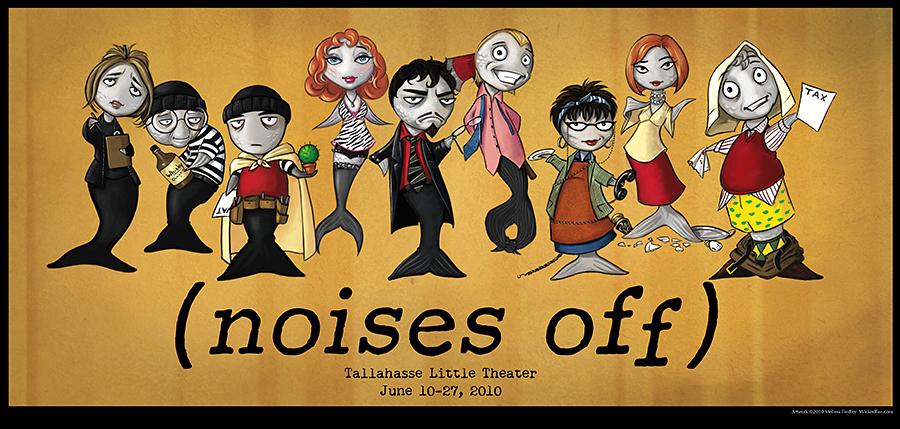 Noises Off Sardine Cast Poster by MelissaFindley