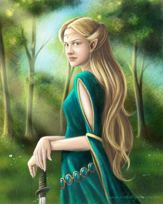 Elf Girl by Mercuralis