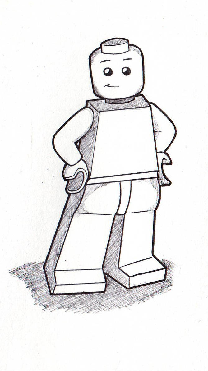 Lego man (Lineart Practice) by tripod2005 on DeviantArt