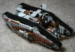 Heavy Steam Tank Mk. I (back) by RRaillery