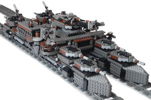 'Fortress-Class' Heavy Double-Gauge Steam Railship by RRaillery