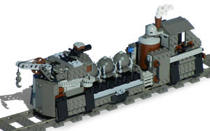 'Utility-Class' Steam Railbarge Mk. LXXI (mines) by RRaillery
