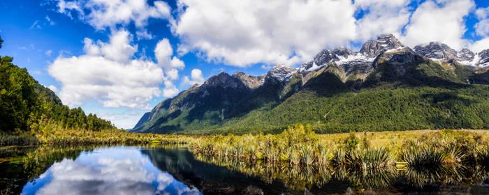 Mirror lakes panorama