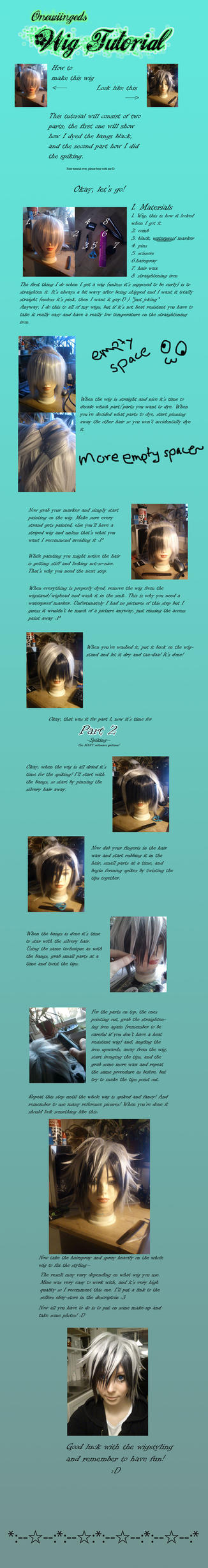 Tutorial: Wig dyeing and spiking by Onewiinged