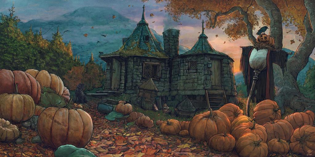 Hagrid's Hut-Harry Potter FanArt-17