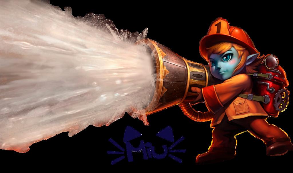 renders League Of Legend  Firefighter_tristana_render_by_miuzr-d8ezexf